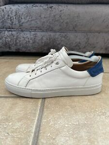 Belstaff White Leather Trainers Size 44 (9.5/10uk)