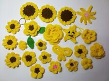 22pcs.Hand crochet Flower various style Appliques sewing craft Diy projects