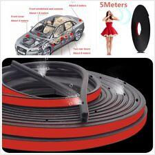 Car Door Seal Strip Sound Insulation B Pillar Noise Windproof Rubber 5m Glue NEW