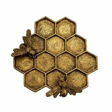 Honey Bee Trinket Dish Jewellery Holder Pewter Gold Metal Sass & Belle