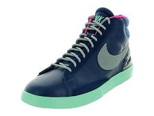 Nike Men's Lunar Blazer Shoes Size 8.5, (555029-400) BLUE/SILVER/PINK