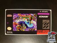Teenage Mutant Ninja Turtles IV 4 in Time Snes Replacement Label Sticker Precut