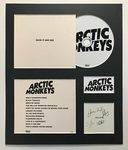 ARCTIC MONKEYS - Signed Autographed - SUCK IT AND SEE - Album Display