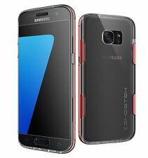 Funda Samsung Galaxy S7 Edge Ghostek Cloak - transparente / roja