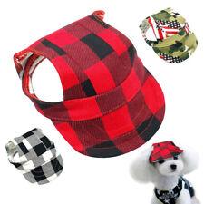 Dog Sun Hat Baseball Ear Hole Adjustable Visor Outdoor Cap Small Medium Large