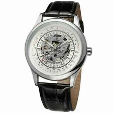 FORSINING Men's Automatic Mechanical Waterproof Watch PU Leather Band Wristwatch