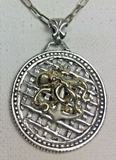 10 Karat Gold Octopus  sterling silver Anchor medallion