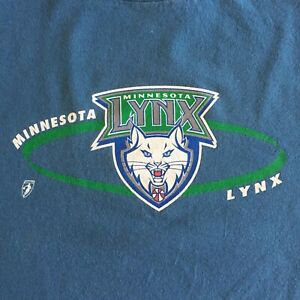 Vtg Minnesota Lynx Champion T Shirt Sz Large WNBA Blue