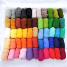 5.82 oz / 165 gr 100% natural New Zealand sheep wool for felting 55 colors set