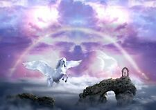 Unicorn Pegasus Horse Picture Poster Print ONLY Wall Art Wall Hanging Art DecoA3