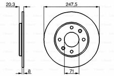 REAR BRAKE DISCS FOR PEUGEOT 205 205 CONVERTIBLE 309 Mk II OE QUALITY GENUINE