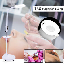 16X Magnifier Magnifying Lamp 360° Rotation Floor Stand Adjustable Salon Beauty