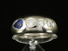 Wunderschön Saphir Brillant Bandring 1,55ct (Gravur) 750/- Weißgold Ringweite 61