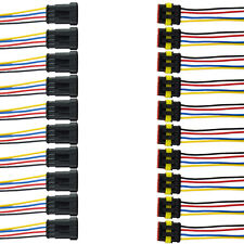 10x 4-Polig Kabel Steckverbinder Stecker Elektrik Wasserdicht Schnellverbinder