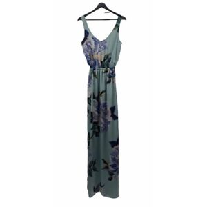 SHOW ME YOUR MUMU Kendall Blue Floral Maxi Dress Size Small