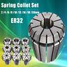 9 ER32 Pinze 2/4/6/8 / 10/12/16/18 / 20mm Set CNC Fresa Tornio Strumento