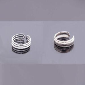 Zehenring 925 Sterling Silber Fussschmuck Fussringe Ring Echt Zirkon verstellbar