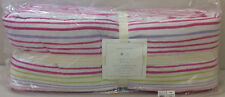 NIP Pottery Barn Kids Baby Colorful RAINBOW STRIPE Nursery Bumper Pad