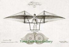 Illustration of Flugmaschine (Flying Machine) 1807 - Steampunk Print