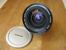 Nikon 20mm f/3.5 Nikkor UD Non AI Lens  **Very Nice Glass**