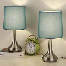 Set of 2 - Modern Nightstand Lamps, Simple Desk Lamps for...
