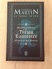 Livre Game of Thrones : Maximes et pensées de Tyrion Lannister - Comme Neuf