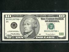US Paper Money 1999 $10 Star Note Low # Gem CU NO RESERVE!