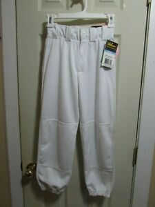 NEW Wilson Women's White Low Rise Softball Pants Belt Loops & Drawstring Small