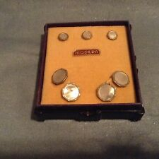 Antique NU-LOK SHIRT BUTTONS CUFFLINKS TACKS Abalone still in the box APPEAR NEW