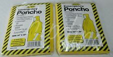 Poncho Camping, Hunting 2 Yellow Emergency Hooded Survival for Bug Out Bags