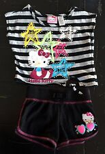 EUC Hello Kitty Girls Top & Shorts Size XS