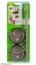 Ball Plastic Mason Jar Lid & Straw, Regular Mouth 6 Count New & Open/Damaged Box