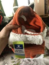 Fur Trimmed Corduroy Dog Jacket With Hood (size Small)