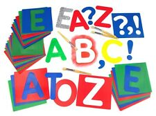 Large Alphabet Set of 27 Stencils Upper Case | Washable | with Punctuation Marks