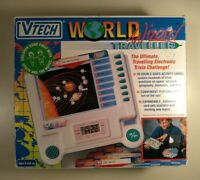 Vintage V-Tech Wizard World Traveller Electronic Learning Game Quiz Science 1992