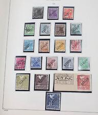 Berlin 1948/90 gestempelte Sammlung fast komplett Schwarzaufdruck gepr. Schlegel