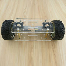 JMT Acrylic Plate Car Chassis Frame Self-balancing Mini Two-drive 2 Wheels Robot