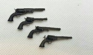 1/12 scale 4 Far WEST Revolver cowboy colt Navy , walker, PEACEMAKER, remington
