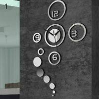 LC_ HK- 3D Specchio acrilico superficie Orologio da parete adesivo