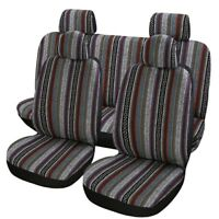 9 Part Universal Stripe Colorful linen Car Seat Cover Full Set Auto Seat Cover