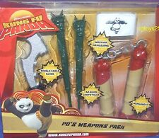 Kung Fu Panda  Po's Weapons pack Dream Works Movie Playset Factory Sealed 2007