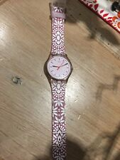 swatch watch only worn twice pink and white current season as new