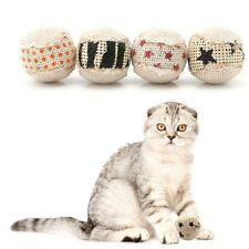New listing 4X Ball Cat Toy Play Chewing Rattle Scratch Catch Pet Kitten Cat Toy Balls Gi8