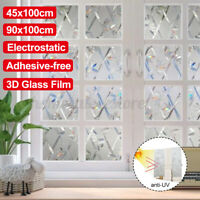 3D Adhesive-free Electrostatic Glass Film UV Protection Window Bathroom