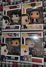 Funko Pop Lot evil dead ash, Nancy, Gage and Church, Blood Stain Negan.
