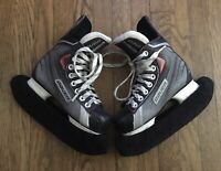 BAUER VAPOR X30 Ice Hockey Skates Youth Size 1 R US 2 Includes Blade Covers!