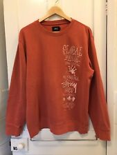 STUSSY GLOBAL 1ST ANNUAL TRIBAL GATHERING APPLIQUE CREW SWEATSHIRT LARGE PATTA