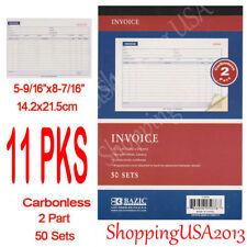 11 X Carbonless Invoice Book Sales Order Receipt Form 50 Sets 2 Parts