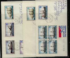 Falkland Islands   3  covers  ship  stamps                   KEL0923