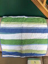 Pottery Barn Kids Spring Stripe Quilted Euro Sham NIP